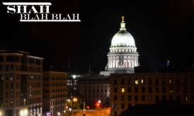 Downtown Madison at midnight